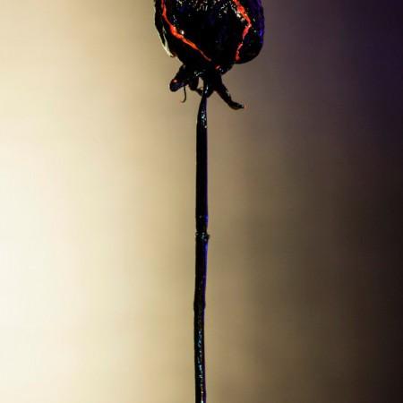 Флуоресцентная роза
